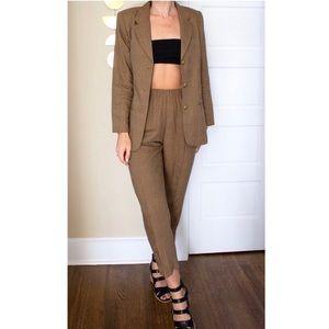 Vintage 80's Wool Pant Suit
